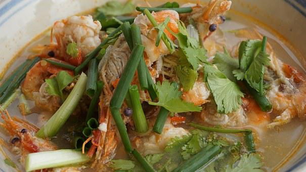 Tom Yum Goong, Hot And Sour Soup, Shrimp, Thailand Food