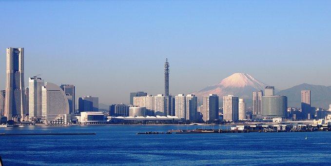 Mt Fuji, Yokohama, The Bay Bridge, Winter