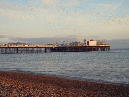 Brighton, Beach, Seaside, Summer, Holiday, Sky, Tourism