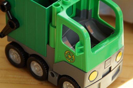 Lego Duplo, Garbage Disposal, Vehicle, Toy Car, Child