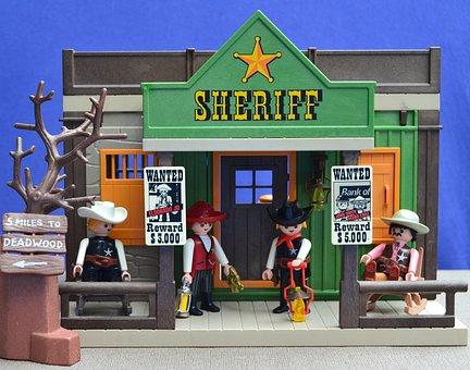 Playmobil, Western, Usa, Sheriff, Cowboys, Toys
