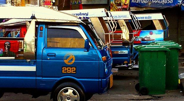 Taxi, Van, Bus, Transport, Car, Transportation, Vehicle