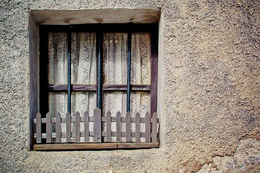 Lattice Windows, Fence, Wall, Wooden Windows