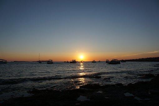 Sunset, Sant Antoni, Ibiza, Sea, Boats, Holidays, Water