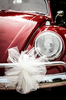Vw Beetle, Beetle, Car, Ceremony, Red, Wedding