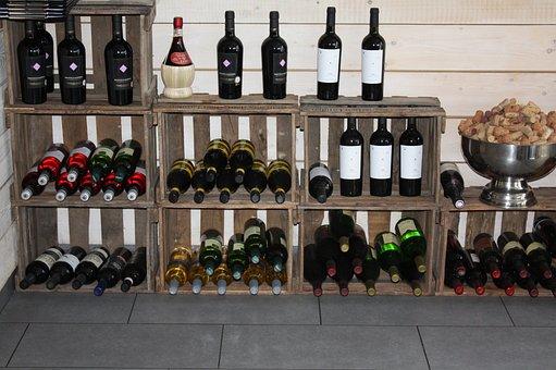 Wine Rack, Wine Bottles, Weindeko, Shelf, Wine, Bottles