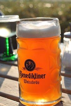 Beer Mug, Benedictine, Wheat, Beer, Sun