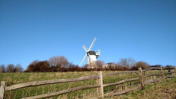 Hove, Brighton, Wind Mill, England, Old, Flour, Grain