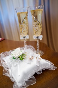 Wedding, Exposure, Wedding Rings, Wine Glasses
