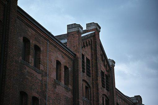 Building, Bill, Brick, Red Brick Warehouse, Yokohama