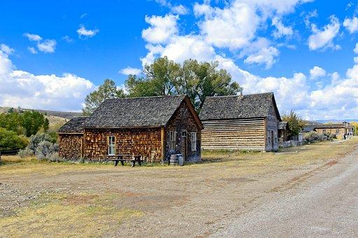 Old Bannack Structures, Bannack State Park, Bannack