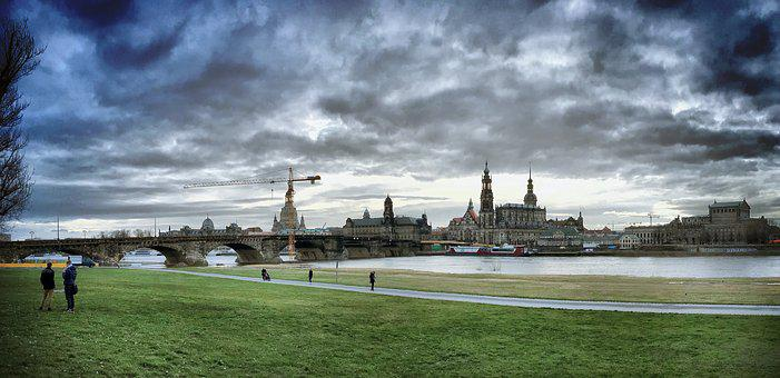 Dresden, Elbe, Canaletto, Saxony, City, Architecture