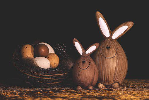 Easter Eggs, Easter Bunny, Rabbit, Figure, Funny
