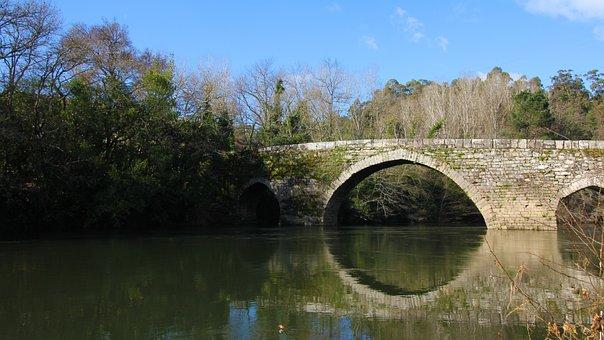 River, Miño, Salvaterra, Galicia, Vinho, Wine, Sky