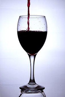 Wineglass, Red Wine, Wine, Glass, Pouring, Still Life