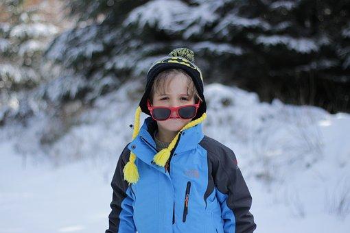 Boy, Winter, Snow, Sunglasses, Ireland, Hat