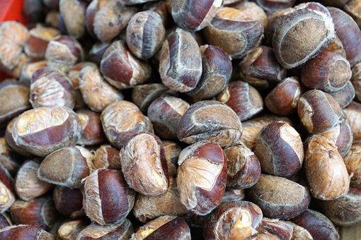 Chestnut, Harvest, Healthy, Fruit, October, Fruits