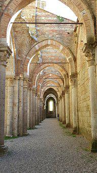 San Galgano, Middle Ages, Abbey, Architecture