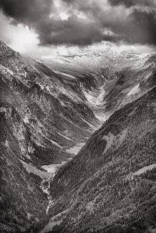 Alps, Austrian, Blackandwhite, Mountain, Nature