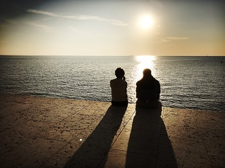 Couple, Sunset, Love, Relationship, People, Romantic