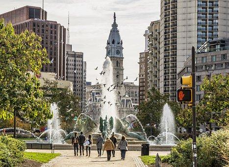 Philadelphia, City, Urban, Philly, Park, Water