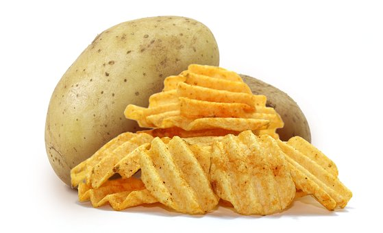 Potato, Chips, Snack, Junk Food, Product Image