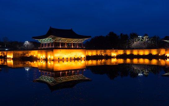 Asia, Republic Of Korea, Water, Lake, Reflections