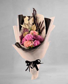 Bouquet, Flower, Love, Roses, Art Paper, Crepe Paper