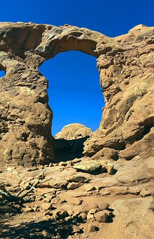 Tall Sandstone Arch, Sandstone, Arches, National, Park