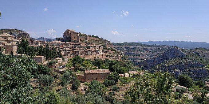 Spain, Alquézar, Huesca, Sierra De Guara, Alquezar