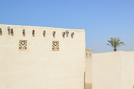 Emirates, House, Architecture, Building, Sky, Summer