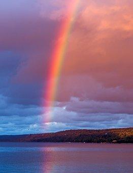 Rainbow, Rain, Effect, Landscape, Sky, Summer, Colorful