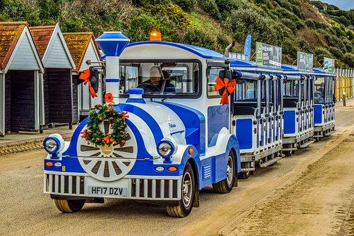 Train, Touristic, Tourism, Leisure, Beach, Beach Huts