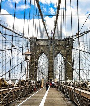 Bridge, New York, Manhattan, America, Usa, Architecture