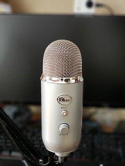 Microphone, Blue, Yeti, Mic, Audio, Recording, Gaming