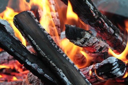 Fire, Wood, Embers, Burn, Smoke, Campfire, Flame, Heat