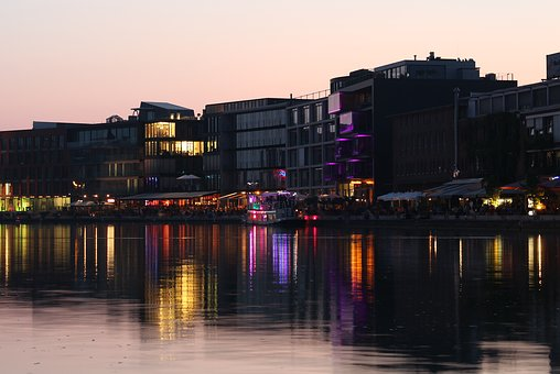 Münster, Port, Water, Mood, Sky, Channel, Romantic