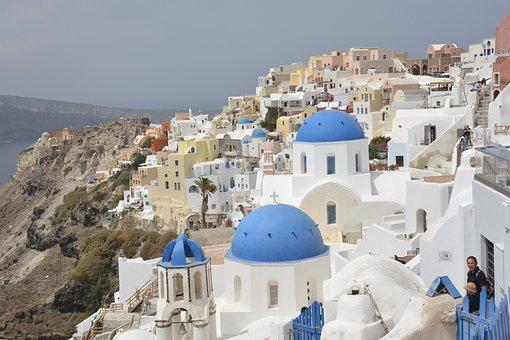 Crete, Island Of Santorini, Architecture, Oia, Greece