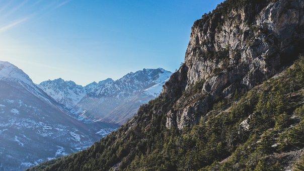 Drone, Mountain, Nature, Landscape, Mountains, Sky