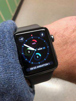 Apple Watch, Wristwatch, Watch, Apple, Gps, Smartklocka