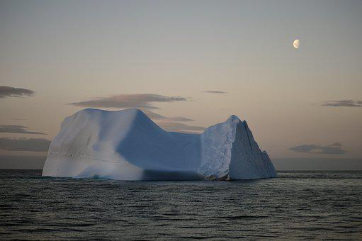 Sunset, Ice, Iceberg, Antarctica, Sea, Ocean, Peace