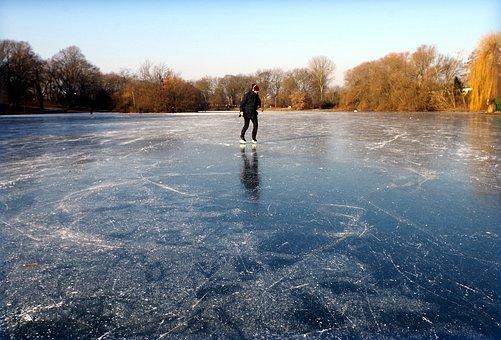 Skating, Skates, Lake, Frozen, Ice Rink, Winter, Sport