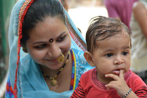 Mother, Son, India, Family, Mom, Baby, Child, Boy, Kid