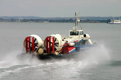 Hovercraft, Isle-of-wight, Float, Floating Boat