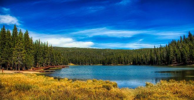 Wyoming, America, Landscape, Scenic, Lake, Reflections