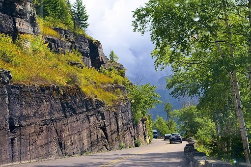 Going To The Sun Road, Glacier National Park, Mountain