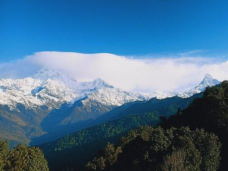 Annapurna, Machhapuchhre, Mountain Landscape, Nepal