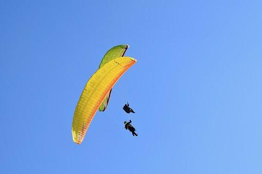 Paragliding, Paraglider, Fifth Wheel, Wind, Free Flight