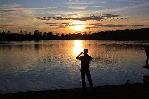 Photographer, Photo Motif, Human, Lake, Water, Waters