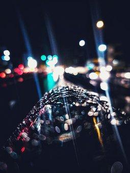 Rain, Pune City, Night, Headlights, City, Architecture